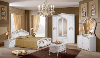 Мебель для спальни «Розалия» (Белое+золото)