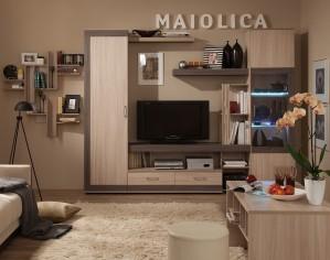 Стенка для гостиной «MAIOLICA» с подсветкой