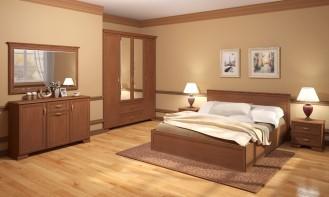 Модульная мебель для спальни «Венеция» Клён торонто