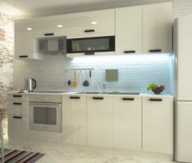 Модульный кухонный гарнитур «Аляска» 2,2 м Глянец