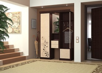 Прихожая для небольшого коридора «Дина» 1400