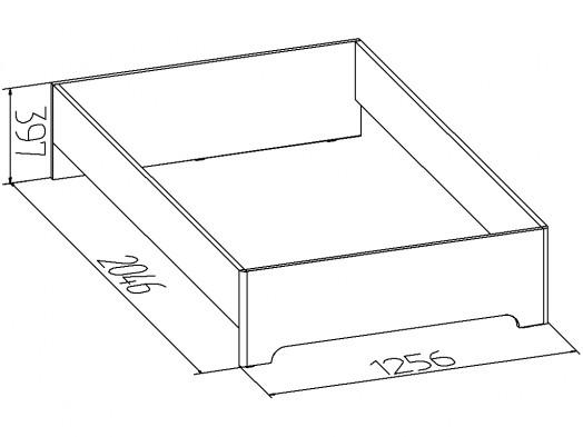 «Эко» Кровать односпальная без основания