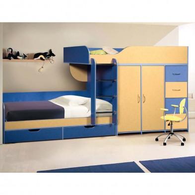 Детская двухъярусная кровать КМК 0251