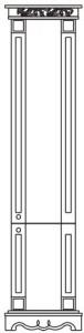Шкаф 2Д «Амелия» КМК 0455.4-01