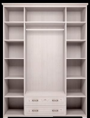 Шкаф для платья и белья 4-х дв с ящиком 02 «Афродита» без карниза