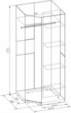 «Марсель» Шкаф угловой 10 Фасад Зеркало
