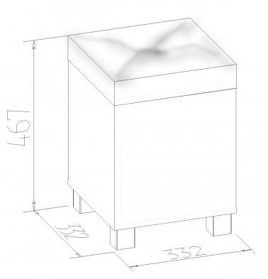 Банкетка с ящиком для хранения «Марсель» 44
