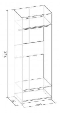 «Бриз» 54 Шкаф для одежды Фасад Зеркало + Стандарт