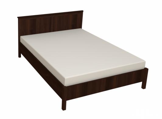 «Sherlock» Кровать двуспальная + деревянное основание орех шоколадный