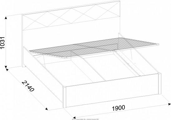 Двуспальная кровать с подъемным механизмом «Бриз» Люкс