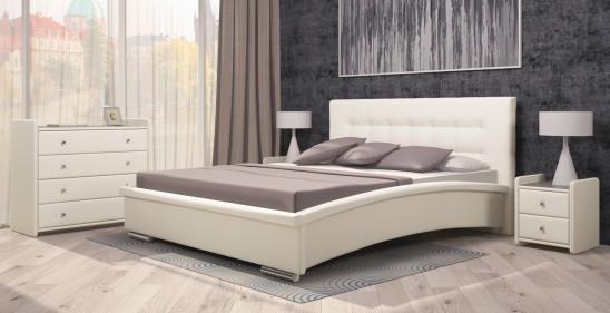 «Луиза» Двуспальная кровать с подъемным механизмом