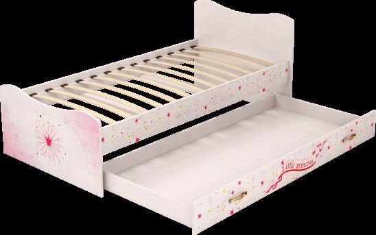 Кровать с ящиком (выдвижное спальное место)04 «Принцесса»