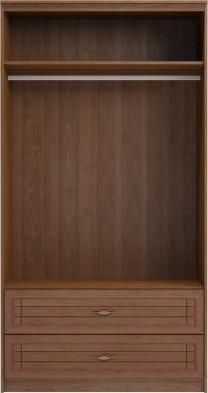 Шкаф для одежды и белья с ящиками 2-х дверный без зеркал 17 «Лондон»