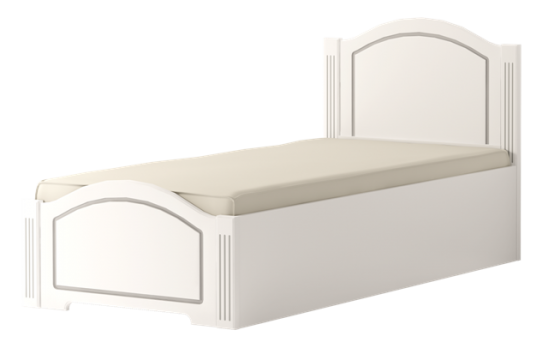 Кровать односпальная (латы)  «Виктория» белый глянец