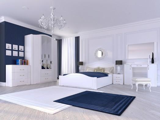 Спальный гарнитур «Виктория» глянец белый