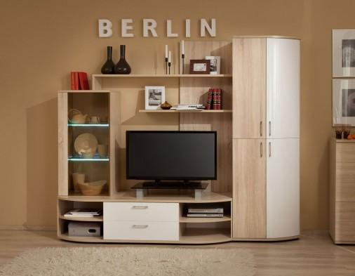 Стенка для гостиной «Berlin» Белый Глянец