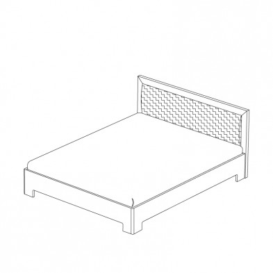 Двуспальная кровать 1 с ортоп. основанием спальня «Парма»
