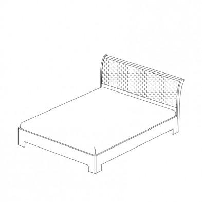 Двуспальная кровать 3 с ортоп. основанием спальня «Парма»