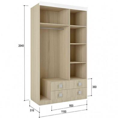 Шкаф 3-х створчатый 1150 №25 «Стиль»