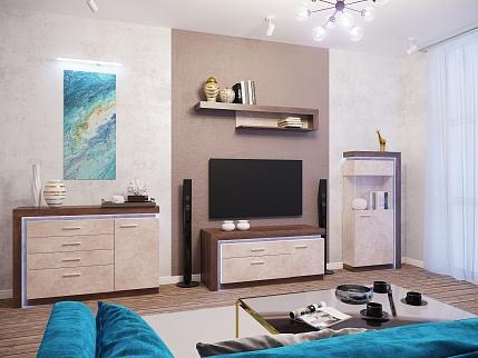 Модульная стенка для гостиной «Люмен»
