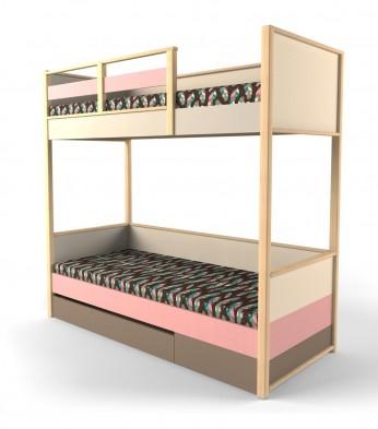 Кровать 2х-ярусная с фальш панелью универсальная «Робин Wood»