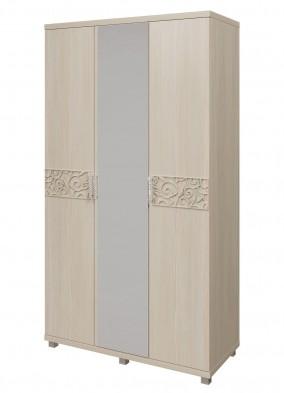 Шкаф для платья и белья  3-х дверный 09 «Ирис» Бодега светлый