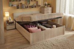 «Вена» Двуспальная кровать с подъемным механизмом