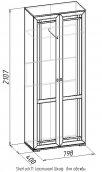 «Sherlock» 11 Шкаф  для одежды дуб сонома