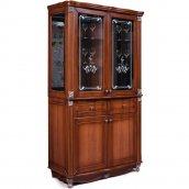 Гостиная «Баккара» шкаф с витриной 0441.4 (витрина с рисунком)