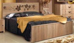 «Венеция» кровать двуспальная с жесткой спинкой КМК 0414.2