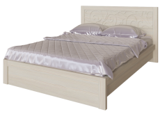 Двуспальная кровать + орт.основание «Ирис» Бодега светлый