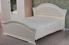 «Графиня» Кровать двуспальная (с мягким элементом)  КМК 0379.10