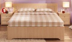 «Анкона» Кровать двуспальная с металл основанием
