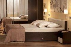 Спальня «BERLIN» Двуспальная кровать  + металл основание