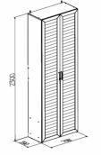 Шкаф для белья широкий 9 «Регата»