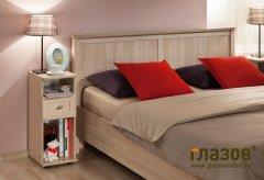 Кровать двуспальная + металл основание «Sherlock» дуб сонома