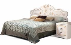 Двуспальная кровать 1600 «Мелани 1»  КМК 0434.6-01.1 (без мягкого элемента)