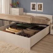 Двуспальная кровать Люкс с подъемным механизмом «BERLIN» Бодега Светлый