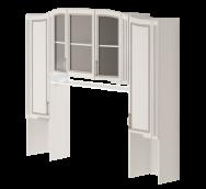 Секция комбинированная 15 «Виктория» Белый глянец