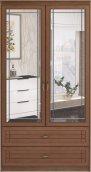 Шкаф для одежды и белья с ящиками 2-х дверный с зеркалами 17 «Лондон»