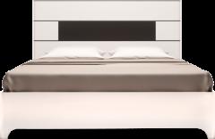 Кровать двуспальная с латами (05) «Танго» Белый глянец