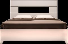 Кровать двуспальная с подъемным механизмом (05) «Танго» Белый глянец