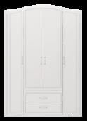 Шкаф для одежды 4-х дв с ящик (б/зерк) (02) «Виктория» белый глянец