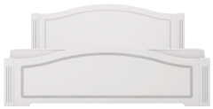 Кровать двуспальная (латы) «Виктория» белый глянец
