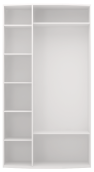 Шкаф для одежды 3-х дверный (с зерк) (09) «Виктория» белый глянец