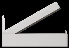 Кровать двойная 1200 с подъемным механизмом (33) «Виктория» белый глянец