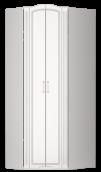 Шкаф угловой (26) «Виктория» белый глянец