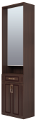 Шкаф комбинированный с зеркалом (23) «Виктория» Тортона Глянец
