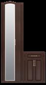 Шкаф для платья с тумбой (с зеркалом) (28) «Виктория» Тортона Глянец