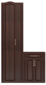 Шкаф для платья с тумбой (без зеркала) (28) «Виктория» Тортона Глянец